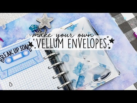 Fold Your Own Vellum Envelopes - DIY Mini Happy Planner Series