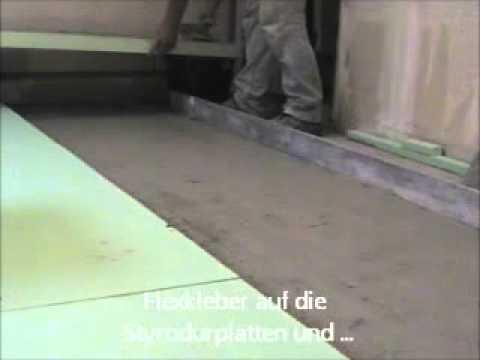 Fußboden Wärmedämmung Verlegen ~ Estrich aus wärmedämmung youtube