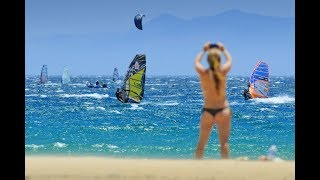 Windsurfing with Robby Swift,  with the big waves in winter season, Maui