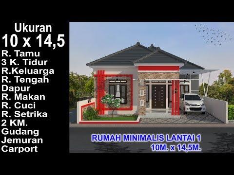 modern house 10x14,5. 3 k. tidur. desain rumah minimalis