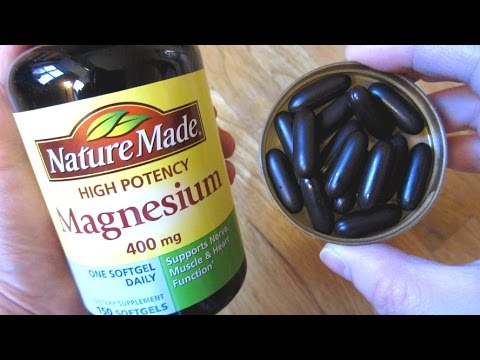 nature made magnesium 400 mg high potency youtube