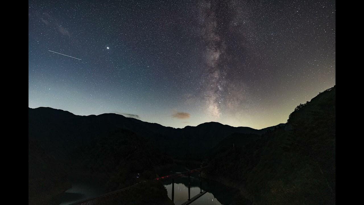 天の川撮影 おまけでタイムラプス^^