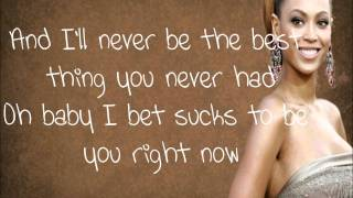 Beyonce-Best thing I never had LYRICS ON SCREEN