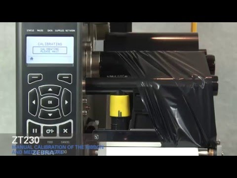 Zebra ZT230 How-To Manually Calibrate Ribbon and Media Sensors
