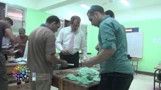 فيديو| بدء عمليات الفرز في لجان ناهيا وكرداسة