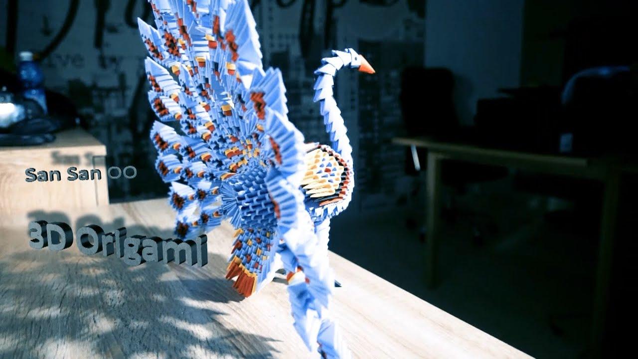 Origami 3d Peacock Diagram