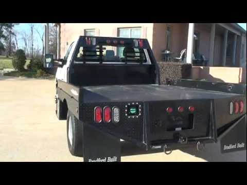 2011 FORD F350 FLAT BED 4X4 6 7L DIESEL FOR SALE SEE WWW SUNSETMILAN COM