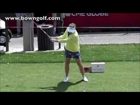 Annika Sorenstam driver swing in slow motion