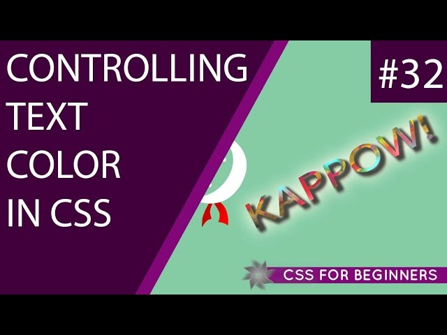 CSS Tutorial For Beginners 32 - Text Colour