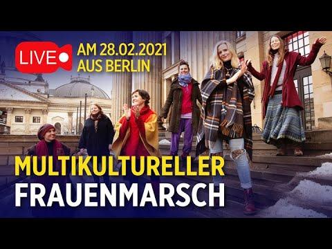 Live aus Berlin - Multikultureller Frauenmarsch | ntd live am 28.02.2021