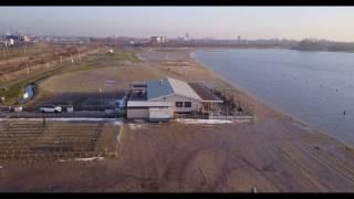 Testvlucht DJI Mavic Pro - Haarrijnse Plassen tijdens zonsondergang
