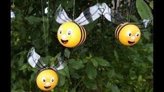 как сделать из киндер яйца пчелку