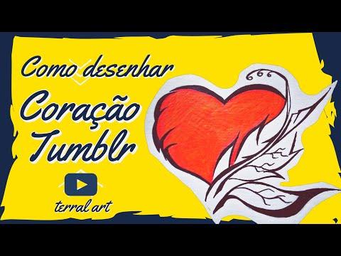 Como Desenhar Um Coracao Tumblr How To Draw A Tumblr Heart Youtube