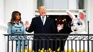 HILARIOUS: Trump Talks Tough Next To An Easter Bunny