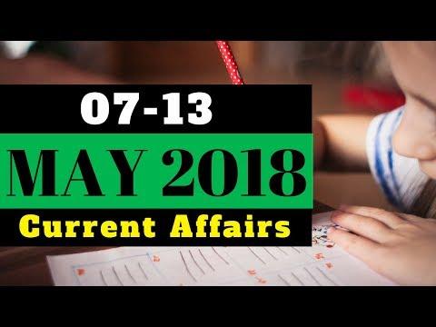 May 2018 Second Week (7-13) Current Affairs Full Analysis in Gujarati | GPSC, UPSC, POLICE, TALATI