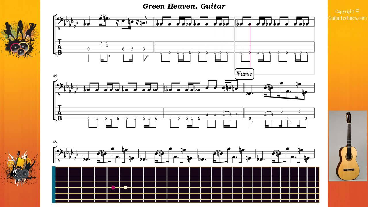 green heaven red hot chili peppers tab