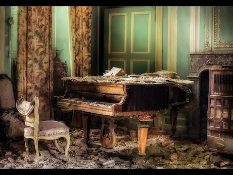 Abandoned Home Of A Professor Grand Piano Still Plays