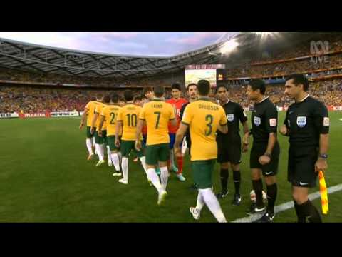 Asian Cup 2015 – Final - South Korea 1 - Australia 2 - national anthems & starting line up.