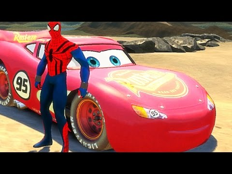 Spiderman s 39 amuse avec flash mcqueen du film cars 2 jeu - Flash mcqueen film gratuit ...