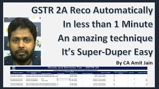 Reconcile GSTR 2A for all your Clients in just a click of a Button, Yes!!! it's that easy
