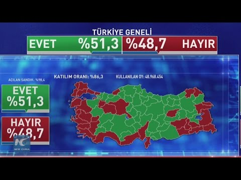 "Turkey voted ""Yes"" for constitutional amendment"