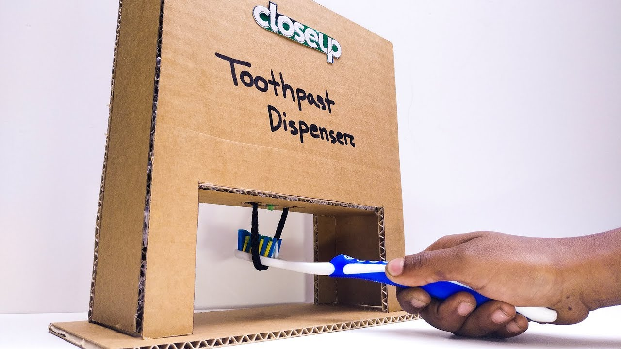 How To Make A Toothpaste Dispenser Diy Toothpaste Machine