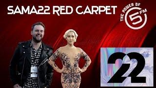 SAMAs Red Carpet | Roxy Burger and Nick Hamman Play Word Slip