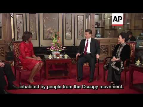 Michelle Obama meets Chinese president Xi JInping and his wife Peng Liyuan