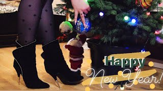 New Year ASMR With Long Sharp Nails And Metal Spike Stiletto Heels