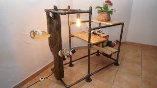 Weinregal selber bauen - Industrial Style