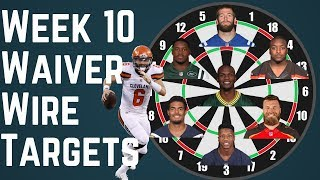 Fantasy Football - Week 10 Waiver Wire Targets