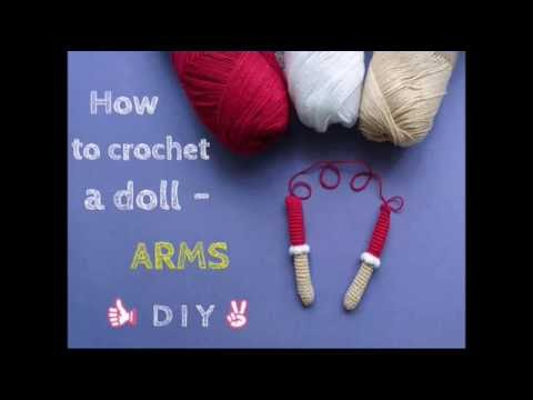 Amigurumi Doll Arms : How to crochet a doll arms tutorial cherry doll youtube