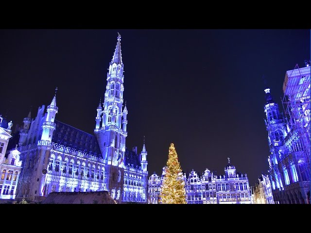 Grand Place Bruxelles - Sound and Lights Show 2016