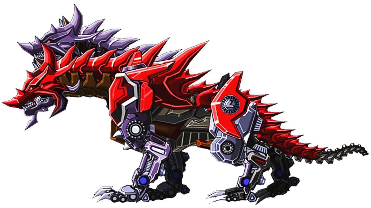 robot hellhound vs turtle vs pterosaur vs dragon vs behemoth vs king