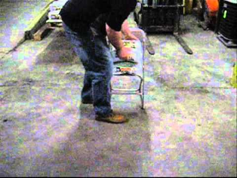 Static Weight Test Of ACT 1000 Plastic Folding Chair   YouTube