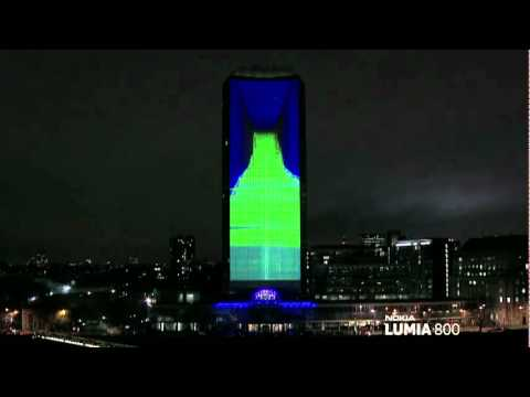 Nokia Lumia Live ft deadmau5 lights up London with amazing 4D projection