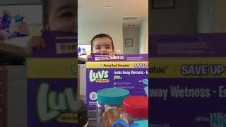 Funny baby in the box