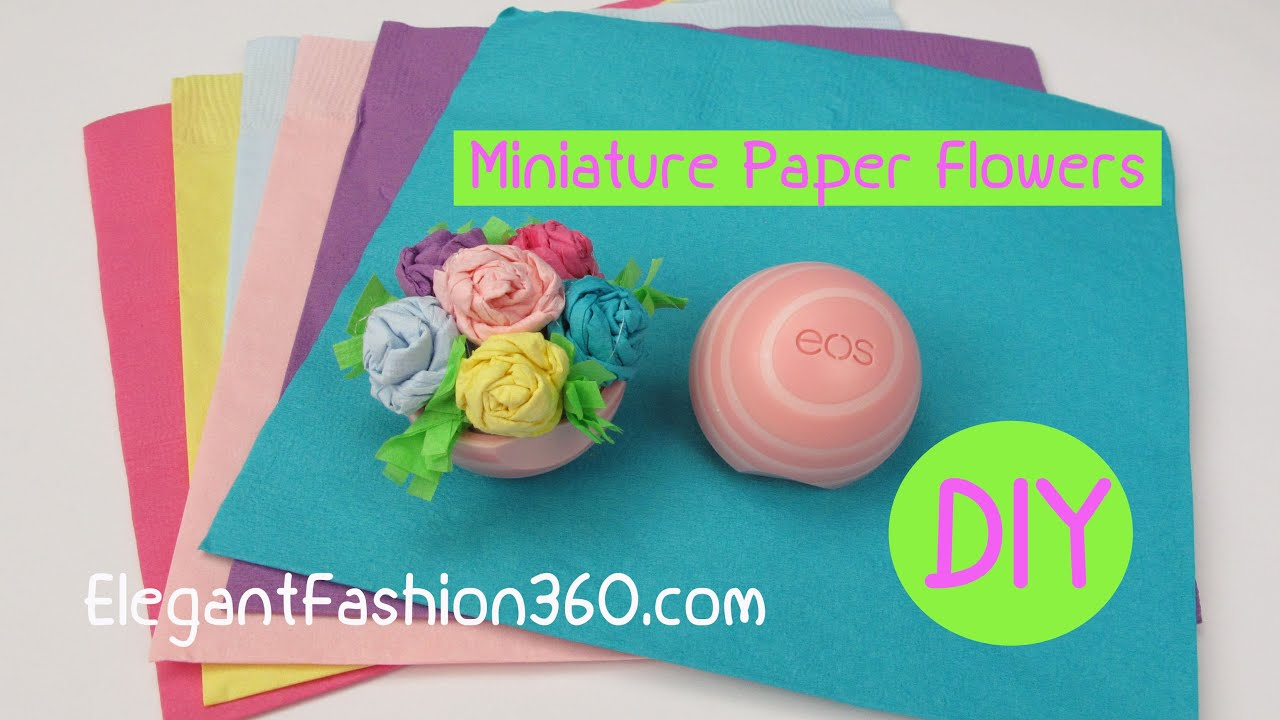 How To Make Eos Miniature Paper Flower Bouquetdollhouse Valentines