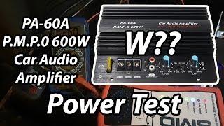Power Test: PA-60A P.M.P.O