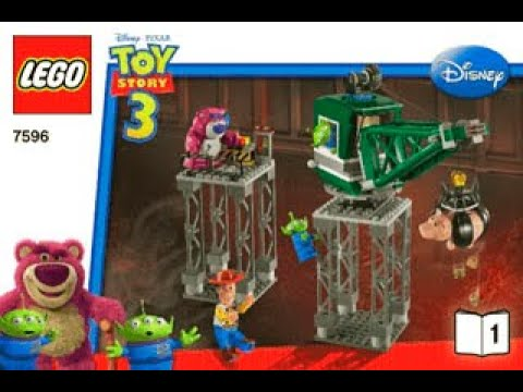Download BUILDING INSTRUCTIONS FOR LEGO TOY STORY TRASH COMPACTOR ESCAPE  - 7596