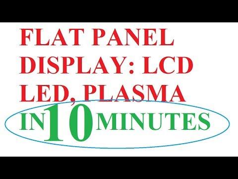 flat panel display in computer graphics: Plasma Display panel, Liquid crystal display & LED display