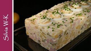 Kartoffelsalat / Kartoffelsalat-Schnitte / Kartoffelsalat-Torte / Grill-Beilage