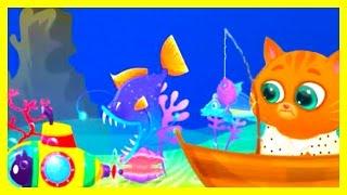 Котик Бубу Котофей игра мультик для детей Котенок Бубу ловит рыбу мультфильм