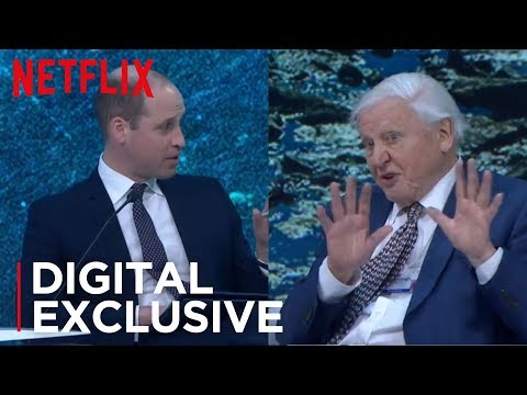 HRH Prince William interviews Sir David Attenborough at Davos Main Stage | Our Planet | Netflix