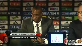 Mario Balotelli REFUSES to answer The Sun Journalist's Question - 1/2/2013 HQ
