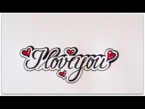 how to write cursive fancy letters i love you easy version