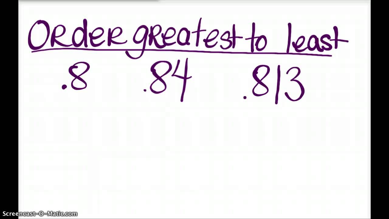 greater than less than equal to decimals review youtube