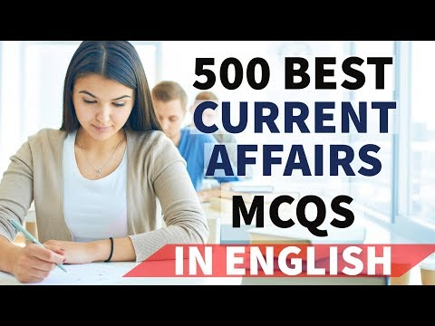 (English) 500 Best Current Affairs of last 6 months - Part 1 - January to June 2017