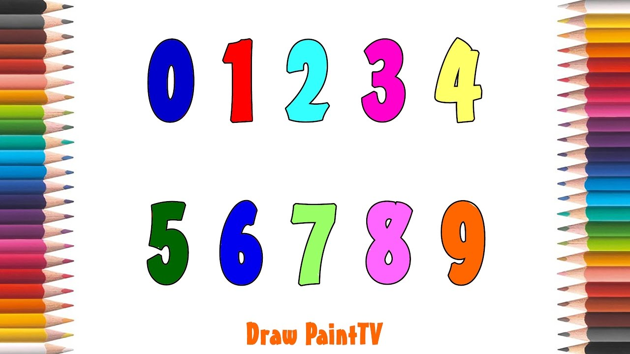 baby learn coloring with number coloring pages 0 9 learning