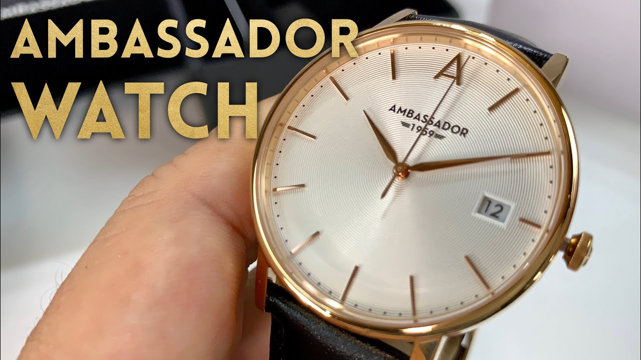 5f800de4f08 The Heritage 1959 Wristwatch by Ambassador Watches Review - YouTube